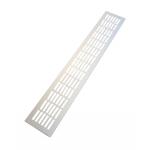 Вентиляционная решетка для подоконника 480х80 мм светло-серебристая