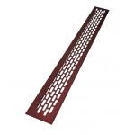 Вентиляционная решетка для подоконника 480х60 мм бордовый
