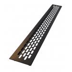 Вентиляционная решетка для подоконника 480х60 мм черная