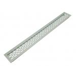 Вентиляционная решетка Sete для подоконника 480х60 мм серебристая
