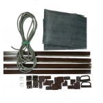 Комплект для сборки москитной сетки до 80*150 см, полотно фибергласс