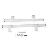 Ручка - труба офисная прямая 500мм с регулируемыми креплениями белая