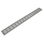 Решетка для подоконника Werzalit Верцалит 800х80 мм серебристая
